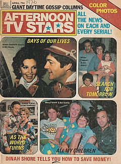 April 1976 issue of Afternoon TV Stars soap opera magazine