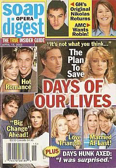 Soap Opera Digest April 15, 2003