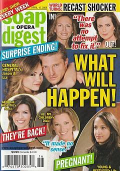 Soap Opera Digest April 15, 2008