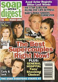 Soap Opera Digest April 16, 2002
