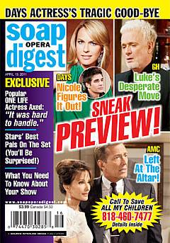 April 19, 2011 issue of Soap Opera Digest magazine
