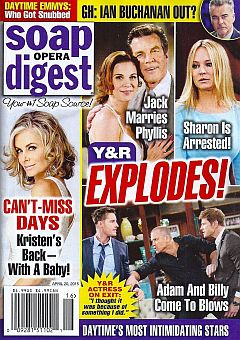April 20, 2015 issue of Soap Opera Digest magazine