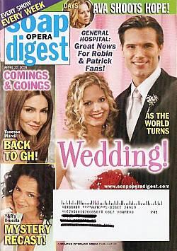 Soap Opera Digest April 22, 2008