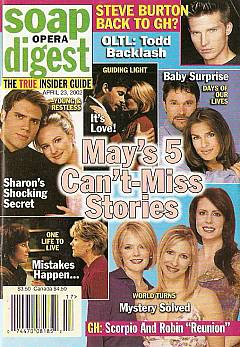 Soap Opera Digest April 23, 2002