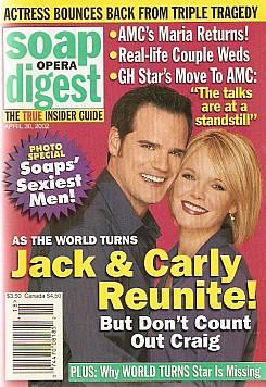 Soap Opera Digest April 30, 2002