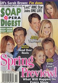 Soap Opera Digest April 3, 2001