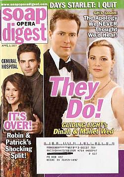 Soap Opera Digest April 3, 2007