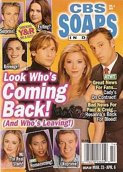 CBS Soaps In Depth April 6, 2004