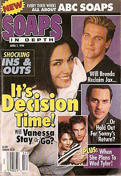 April 7, 1998 issue of ABC Soaps In Depth magazine