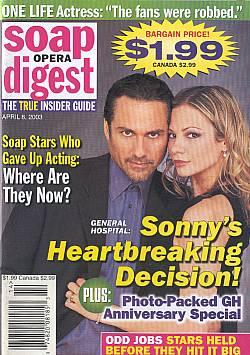 Soap Opera Digest April 8, 2003