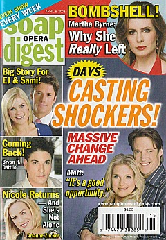 Soap Opera Digest April 8, 2008
