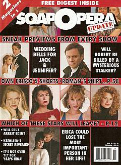 April 8, 1991 issue of Soap Opera Update magazine