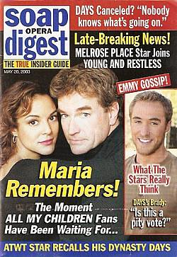 Soap Opera Digest May 20, 2003