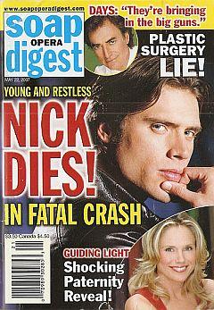 Soap Opera Digest May 22, 2007