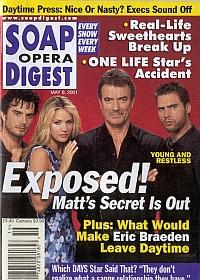 Soap Opera Digest May 8, 2001