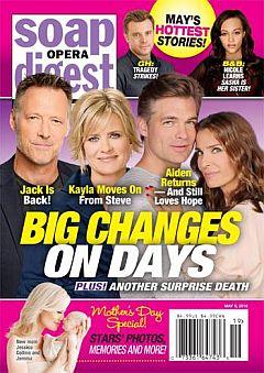 Soap Opera Digest May 9, 2016