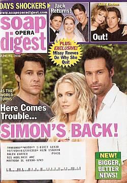 Soap Opera Digest June 27, 2006