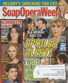 June 28, 2011 issue of Soap Opera Weekly magazine