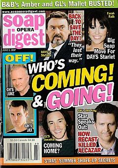 Soap Opera Digest June 5, 2007