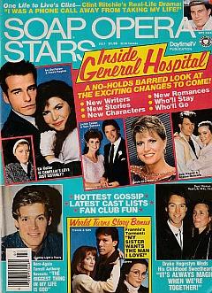 Soap Opera Stars July 1987