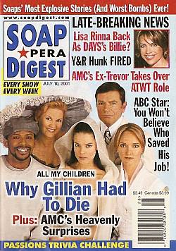 Soap Opera Digest July 10, 2001