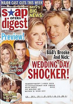 Soap Opera Digest July 11, 2006
