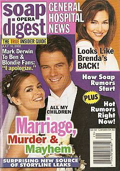 Soap Opera Digest July 16, 2002