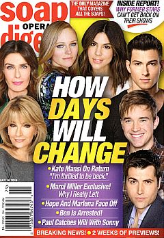 July 16, 2018 issue of Soap Opera Digest magazine