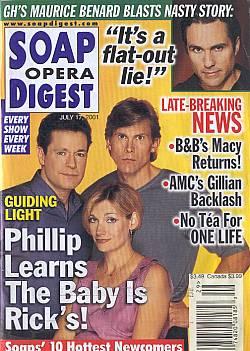Soap Opera Digest July 17, 2001