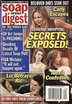 Soap Opera Digest July 22, 2003