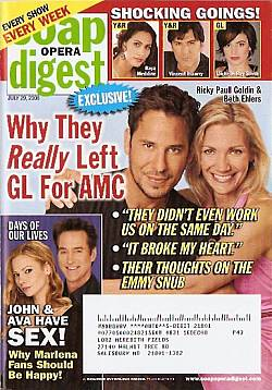 Soap Opera Digest July 29, 2008