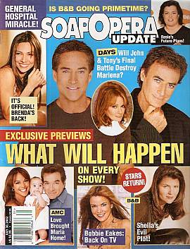 Soap Opera Update July 30, 2002