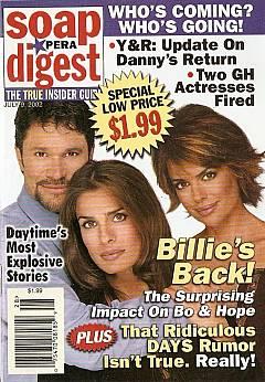Soap Opera Digest July 9, 2002