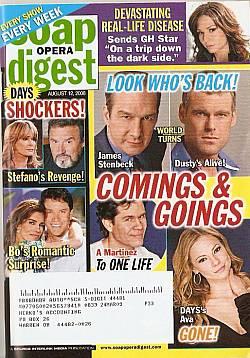 Soap Opera Digest August 12, 2008