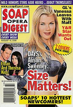 August 15, 2000 issue of Soap Opera Digest featuring Alison Sweeney on the cover