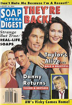 Soap Opera Digest - August 16, 1994