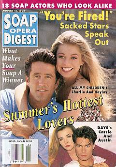 Soap Opera Digest August 17, 1993