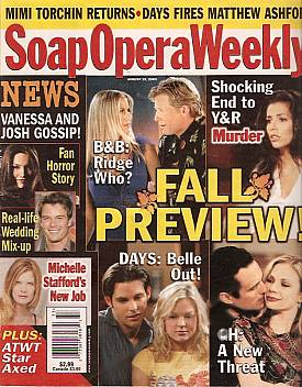 Soap Opera Weekly August 19, 2003