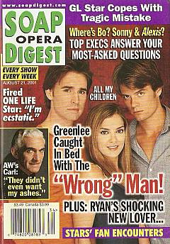 Soap Opera Digest Aug. 21, 2001