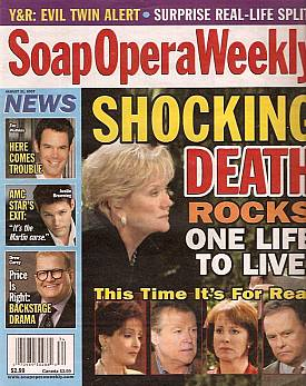 Soap Opera Weekly August 21, 2007