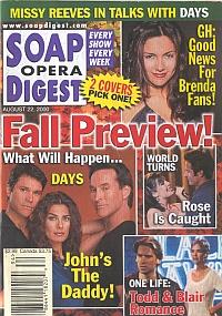Soap Opera Digest - August 22, 2000