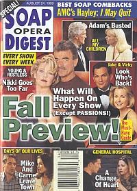 Soap Opera Digest - August 24, 1999