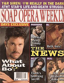 Soap Opera Weekly August 28, 2001