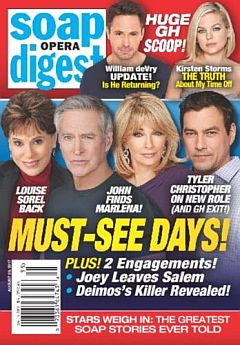 August 28, 2017 issue of Soap Opera Digest magazine