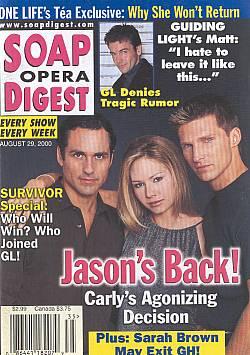 Soap Opera Digest - August 29, 2000
