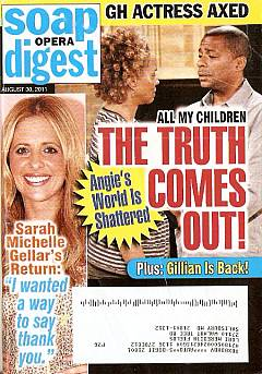 Soap Opera Digest August 30, 2011