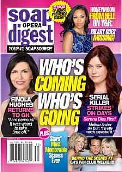 August 31, 2015 issue of Soap Opera Digest magazine