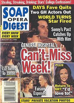 Soap Opera Digest - August 31, 1999