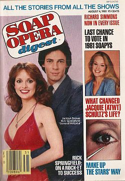 August 4, 1981 issue of Soap Opera Digest