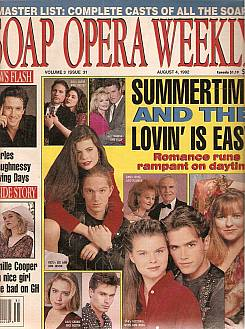Soap Opera Weekly August 4, 1992